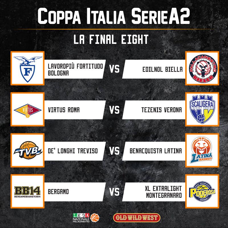 Calendario Serie A2 Basket.Coppa Italia Lnp 2019 Old Wild West Gli Accoppiamenti In