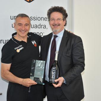 Lino Lardo (GSA Udine), miglior allenatore A2 Citroën Est